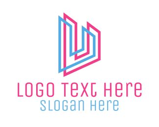 Outlines - Letter U logo design
