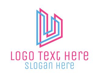 Neon - Letter U logo design