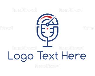 Radio - Speedometer Podcast logo design