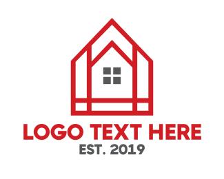 Residences - Red Mosaic House logo design