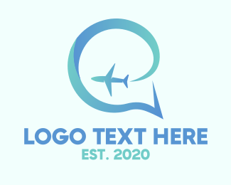 Travelling - Aero Chat logo design