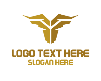 Longhorn - Golden Cow logo design