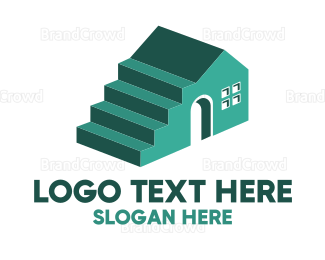 Bricklayer - Steps Build logo design