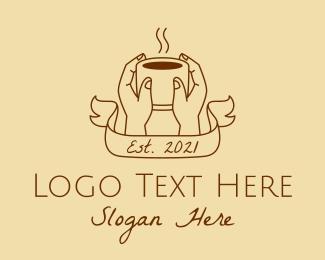 Hot - Hot Coffee Hands logo design