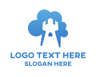 Tower - Cloud Tower logo design