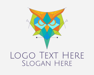 Pharaoh - Colorful Geometric Owl logo design