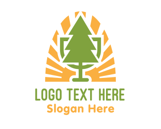 Ecological - Bio Tree Emblem logo design