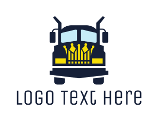 Tow Truck - Blue Truck King logo design