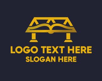 Golden Bridge Public Library logo design