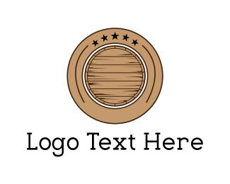 Whiskey - Barrel Circle logo design