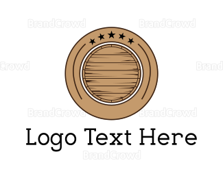 Whiskey - Barrel Circle logo design