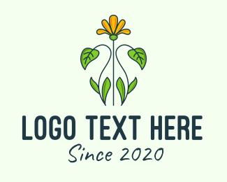 Garden - Yellow Flower Garden logo design