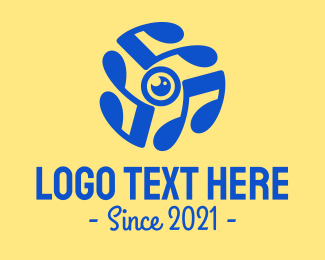 Video Coverage - Blue Music Lens logo design