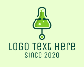 Chem - Green Medical Laboratory logo design