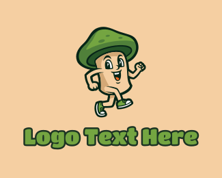 Mushroom - Happy Mushroom Cartoon logo design