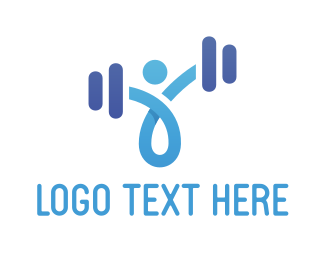 Weightlifting - Abstract Weights logo design