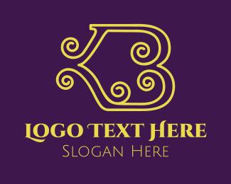Curl - Elegant Curl Letter B logo design