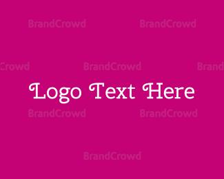 Adorable - Curly White Text logo design