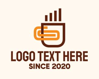 Hot Choco - Coffee Cup Clip logo design