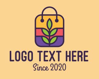 Grocery - Organic Grocery Bag logo design