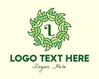 Monstera Deliciosa - Ornamental Leaf Lettermark logo design