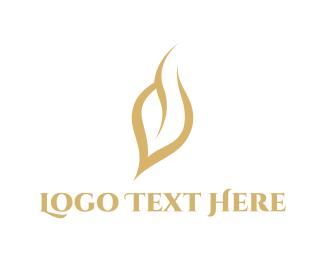 Wellness - Golden Leaf logo design
