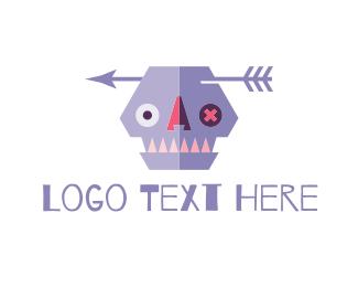 Cranium - Purple Skull logo design