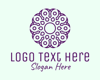 Yoga Fitness - Yoga Purple Spa logo design