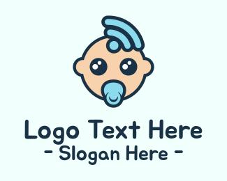 Newborn - WiFi Baby logo design