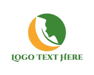 Mental Health - Woman Profile logo design