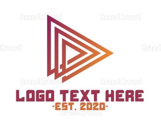 Triangle - Forward Triangle logo design
