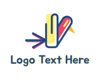 Office Supplies - Office Bird logo design