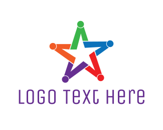 Human Resource - Colorful Star Group logo design