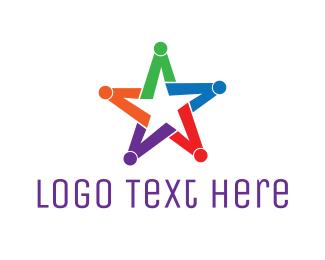 Astrology - Colorful Star Group logo design