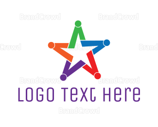 Diversity - Colorful Star Group logo design
