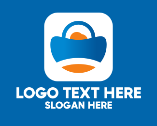 Online Market - Application Shopping Bag logo design