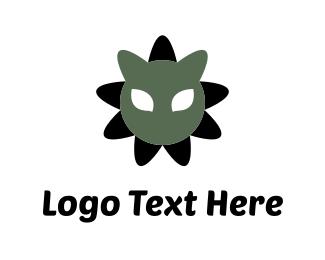 Tiger - Cat Flower logo design