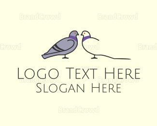 Pair - Pigeon Couple logo design