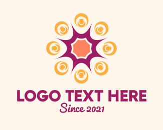 Starburst - Colorful Swirl  logo design
