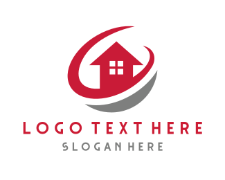 Property - Red House Circle logo design