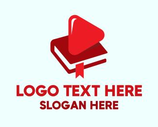 School - Online Youtube School Book logo design