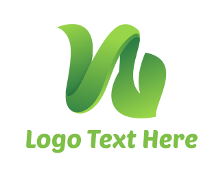 Grass - Green Vine Leaf logo design