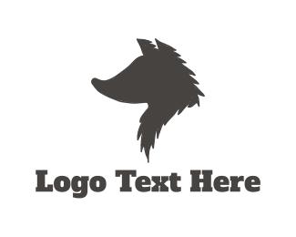 Fox - Wolf Silhouette logo design