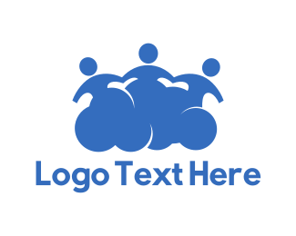 Characters - Social Cloud logo design