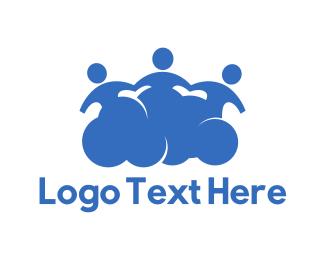 Clouding - Social Cloud logo design