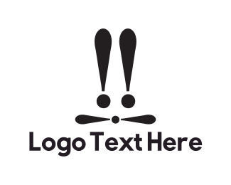 Rabbit - Exclamation Hare logo design