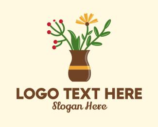 Decor - Flower Vase Decor  logo design