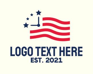 Time - American Time logo design