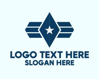 Super - Star Blue Diamond logo design