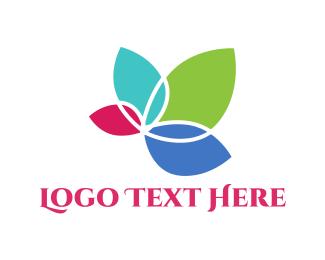 Flower Shop - Colorful Flower logo design